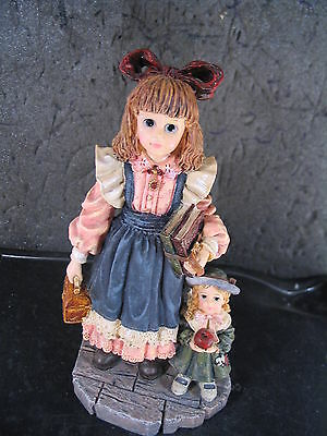 Boyds Yesterday's Child LAURA WITH JANE FIRST DAY OF SCHOOL  MIB  Ed 1E SIGNED !
