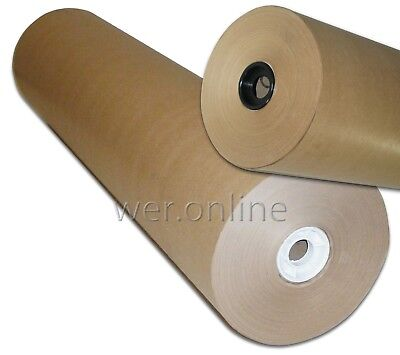 M G Ribbed Pure Kraft 750mm x 225M Brown Packing Paper Rolls - 1 and 2 Roll Qtys