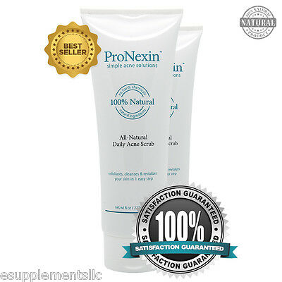 PRONEXIN 2pack - Natural Face Scrub Acne Treatment - Removes Dead Skin and Dirt
