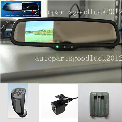 "Auto dimming rear view mirror+3.5"" reversing LCD+camera,fits Peugeot,Citroen,UK"