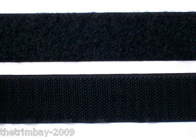 Hook and Loop Sew 20 mm Black Bulk Packs
