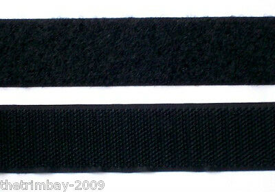 Hook and Loop Sew On 25 mm Black Wholesale Pack