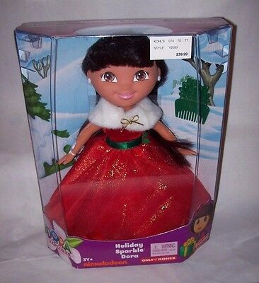 Dora the Explorer CHRISTMAS Holiday Doll by Fisher-Price MSRP$39.99 NEW IN BOX