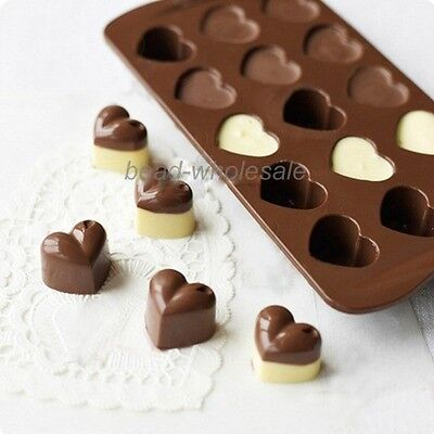 Heart Silicone Bar Ice Cube /Chocolate Cake Jelly Mold Candy Tray Kitchen Tool