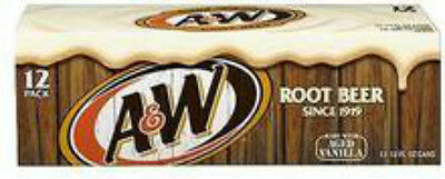 A & W Root Beer 12pk 355ml Cans A&W USA softdrink