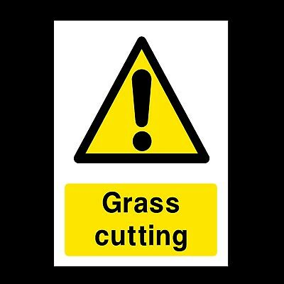 Grass Cutting Signs & Stickers Large Sizes! Thick Materials! Farm (Ca19)