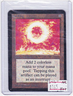 MTG: SOL RING English ALPHA First Edition/Set MAGIC Originale UNCOMMON CARD 1993