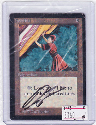 MTG: FORCEFIELD BETA 2nd Core Set SIGNED by DAN FRAZIER Author AUTOGRAPH Limited