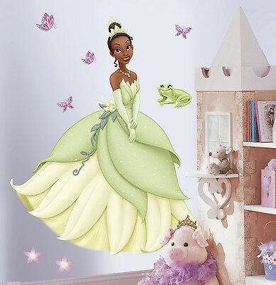 New Giant PRINCESS TIANA WALL DECALS Princess and the Frog Stickers Girls Decor