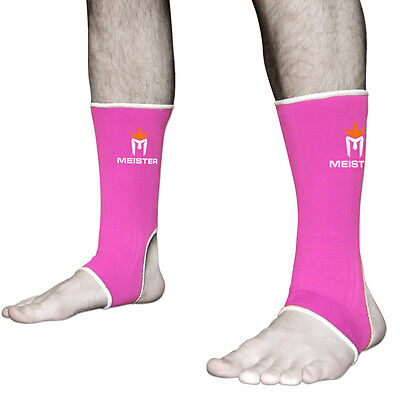 MEISTER PINK MUAY THAI ANKLE SUPPORTS ADULT - Compression MMA Brace Wraps Women
