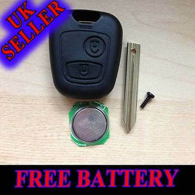 For Citroen Xsara Picasso Berlingo Replacement 2 Button Key Case Free Battery
