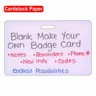 Blank Cardstock Horz Make Your Own Badge ID Card Pocket Guide Nurse Paramedic RN