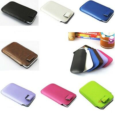 Pull Strap Soft Leather Case Pouch Pocket for iTouch iPod iPhone 4G 4S 3G 3GS