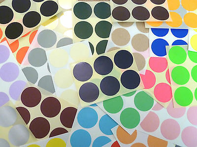 33mm Round dot Stickers Coloured Circles Circular Sticky Labels - 28 colours