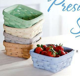 Longaberger Small Berry Basket with Protecotr - Pale Green