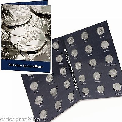 DISCONTINUED Olympic 50p Collector Coin Album for 29 Coins & Completer Medallion