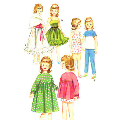 Vtg 1960s Doll Clothes Wardrobe Pattern ~ Tammy, Suzie, Jan, Terry