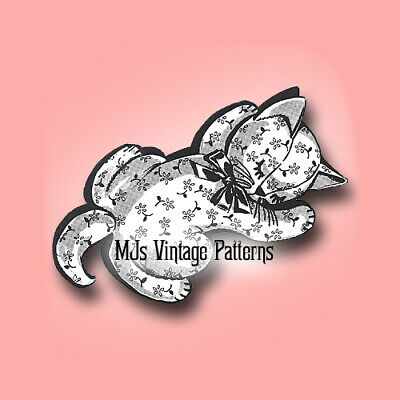 Vintage Pajama Bag Pattern ~ Kitten