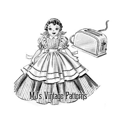 Vintage Toaster Cover Doll Pattern ~ BEAUTIFUL!!!