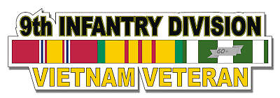 "9th Infantry Division Vietnam Veteran 5.5"" Window Sticker 'Officially Licensed'"