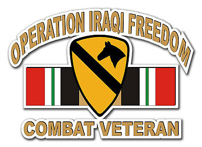 "Operation Iraqi Freedom 1st Cavalry Div 5.5"" Car Window Sticker Decal"