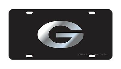 Uga University Of Georgia Pewter License Plate Car Tag