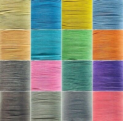 Waxed Cotton Cord Thong 1mm Various Colours and Lengths