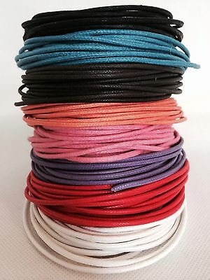Waxed Cotton Cord/Thong 1.5 mm Various Colours and Lengths Available