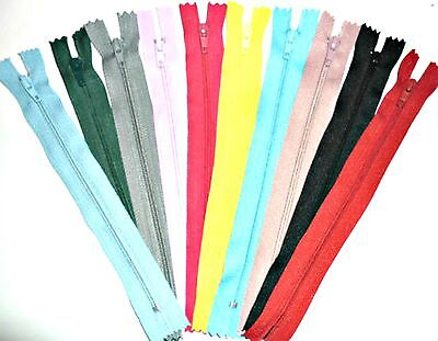 "Zips 7"" 18Cm Closed End Auto Lock, X6, Various Colours, Free P&P"