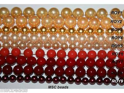 16'' South Sea Shell Pearl Red Orange Yellow 4mm 6mm 8mm 10mm
