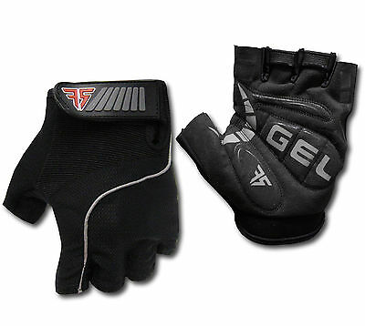 Gel-padded Mens Cycling Gloves *half-finger *comfy*reflective* Bike/Bicycle