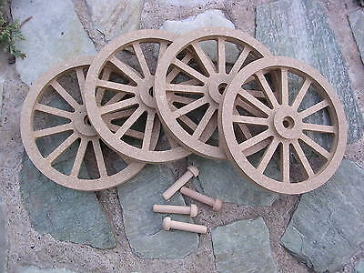 WAGON & CANNON WHEELS - 4  Inch Diameter MDF miniature wooden stage coach buggy
