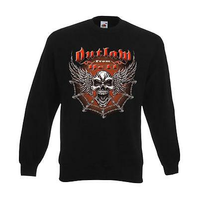 funshirt S 6xl ads00924 Felpa Outlaw From Hell-Wing Skull