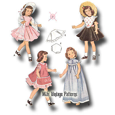 """Vintage 1950s Doll Clothes Pattern ~ 14"""" Betsy McCall, Toni, Miss Revlon"""