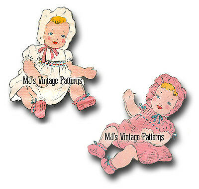 """Vintage Baby Doll ULTRA RARE Pattern ~ Moveable Head, 15"""" tall"""