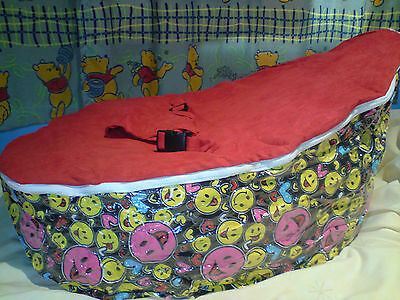 NEW Baby Bean Bag - Red Smiley