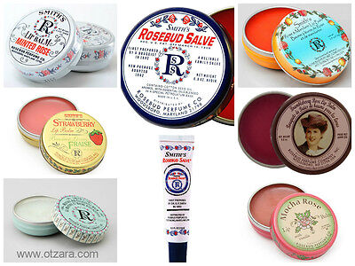 Smith's Rosebud Salve & Lip Balms in Vintage Tin 0.8oz 22g or Tube Various SW