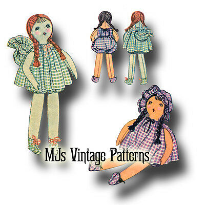 "RARE!!! Vintage 1930 Gingham Cloth Doll Pattern ~ 18"" tall"