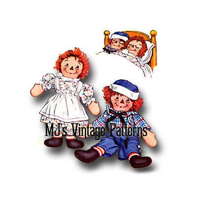 """Vintage Raggedy Ann and Andy Pattern ~ 15"""" tall"""