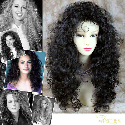 Wiwigs Untamed Long Black Brown Curly Wild Ladies Wig