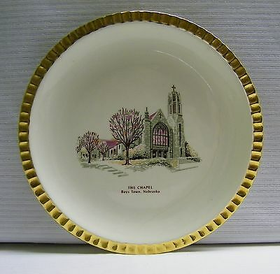 Boys Town Nebraska Souvenir Plate Vintage The Chapel