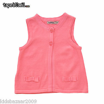 Tapealoeil Baby Girls Pink Cotton Cable Knit Vest Size 3M/6M/9M/12M/18M