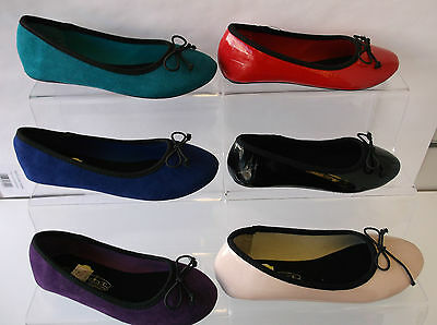 Girls Teal/Blue/Purple/Black/Nude/Red Spot on Dolly Shoes : H2236