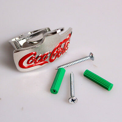 1 x bottle opener coke cola bar kitchen beer shed screws man cave wall mount new