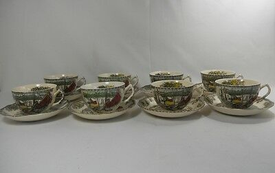 Johnson Brothers Friendly Village Set of 8 Cups and Saucers