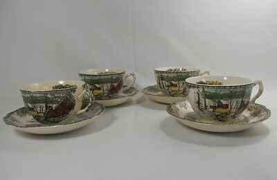 Johnson Brothers Friendly Village Set of 4 Cups and Saucers