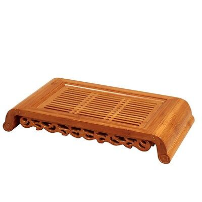 "Bamboo Gongfu Tea Table Serving Tray Tea Table 16""*8"" For 3-5 People"