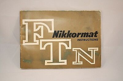 Nikon Nikkormat Camera FTN Instruction Manual (EN) 7214063