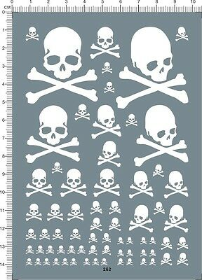 decals Bones skull for different scales(white) 262