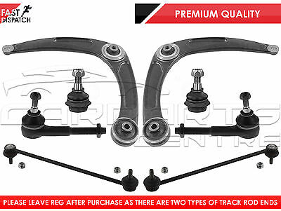 For Peugeot 307 Front Lower Suspension Arms Links Ball Joints Track Tie Rod End
